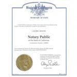 Laurel's Certificate